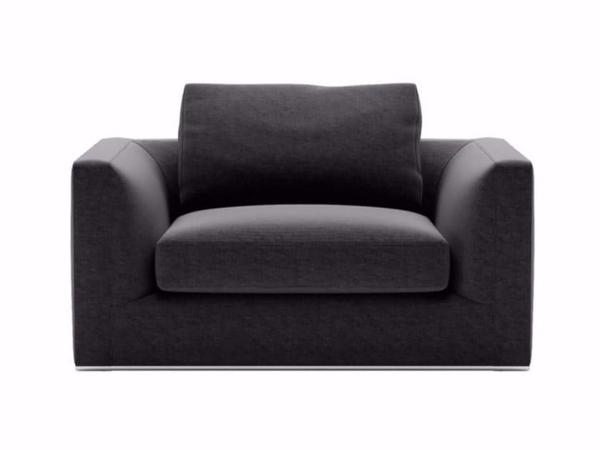 Fabric armchair with armrests RICHARD | Armchair by B&B Italia