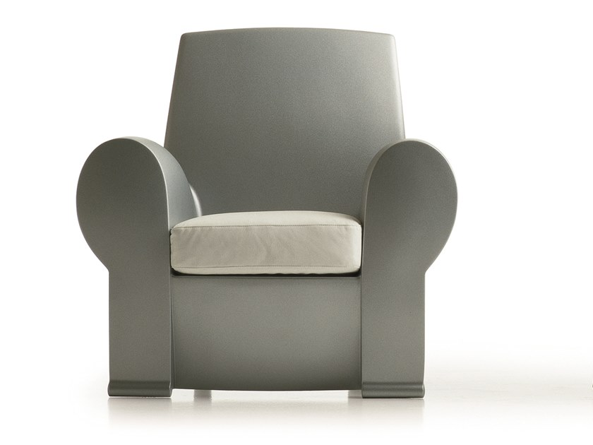Bergere polyurethane armchair with armrests RICHARD III by BALERI ITALIA