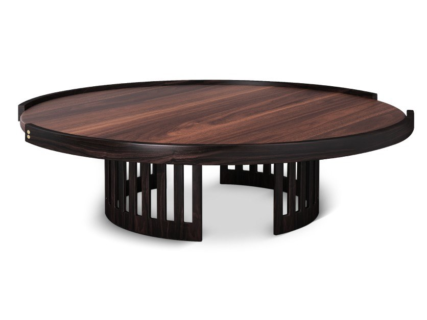 Round wooden coffee table RICHARD by Wood Tailors Club