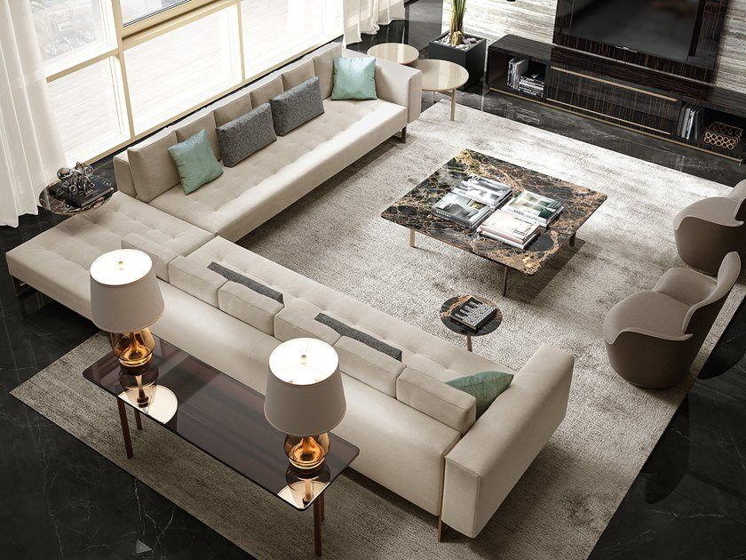 Corner sectional sofa RICHMOND UPON THAMES | Corner sofa by Barnini Oseo