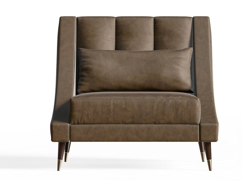 Upholstered fabric armchair with armrests RICHMOND UPON THAMES | Upholstered armchair by Barnini Oseo