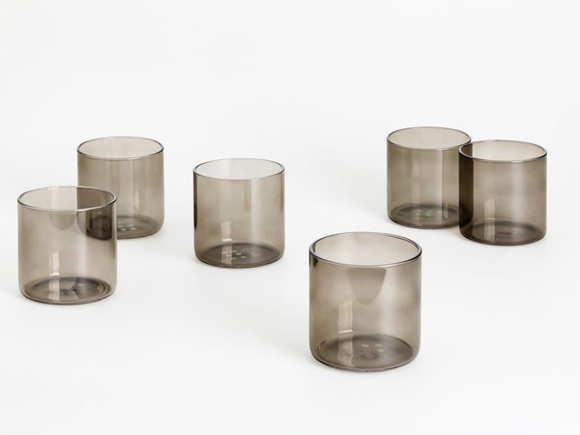 Set di bicchieri in vetro borosilicato RIFLESSI by Geelli