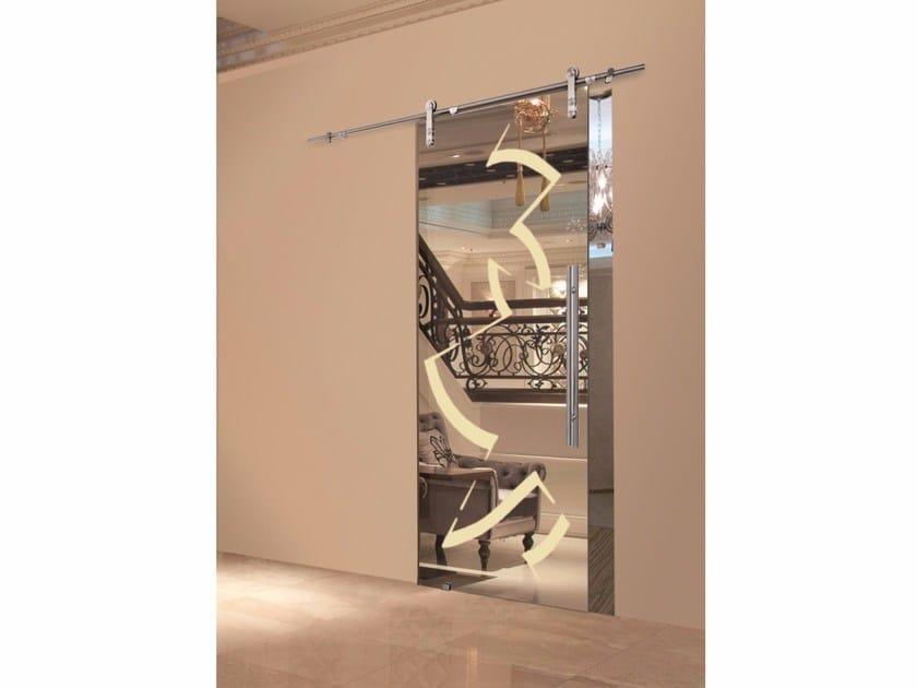 Glass sliding door RIFLESSI MIRROR & CHAMPAGNE by Casali