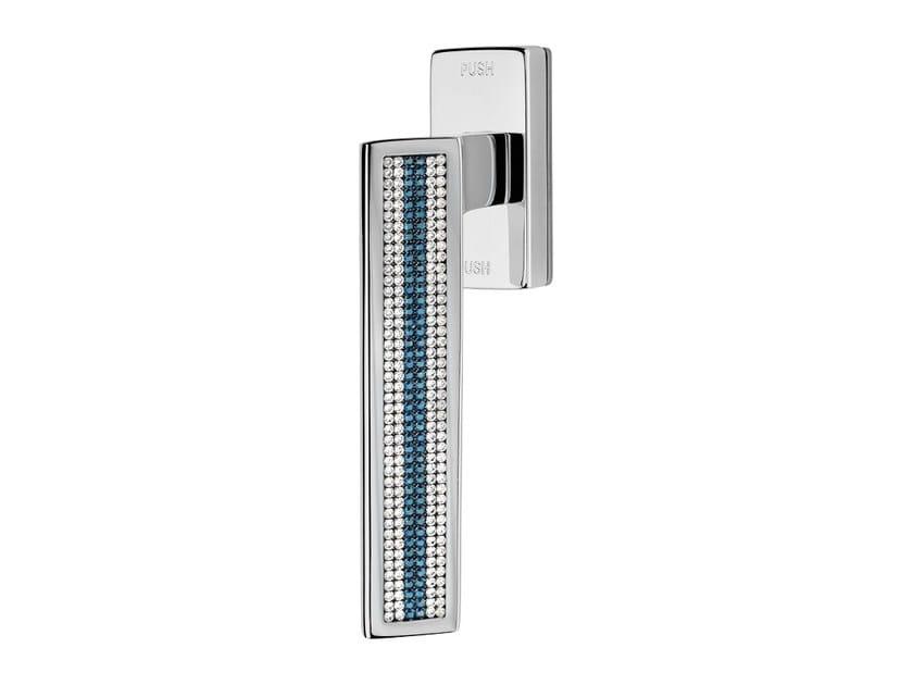 Contemporary style anti-intrusion DK window handle with Swarovski® Crystals RIFLESSO MESH | Anti-intrusion window handle by LINEA CALI'
