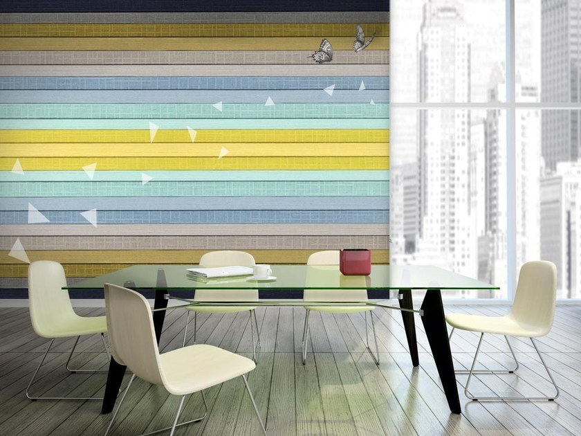 Striped nonwoven wallpaper RIFLESSO ORIZZONTALE by MyCollection.it