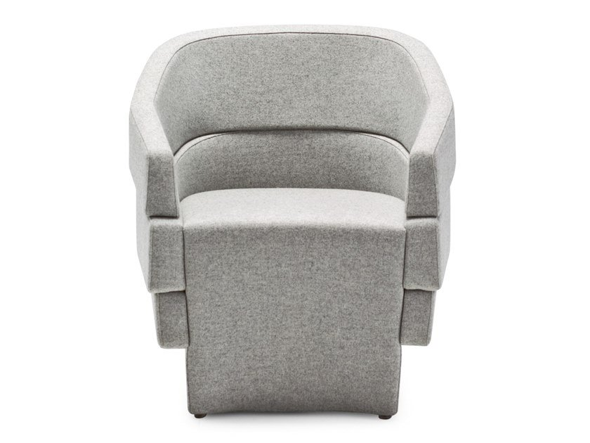 Upholstered easy chair with armrests RIFT | Easy chair by Moroso