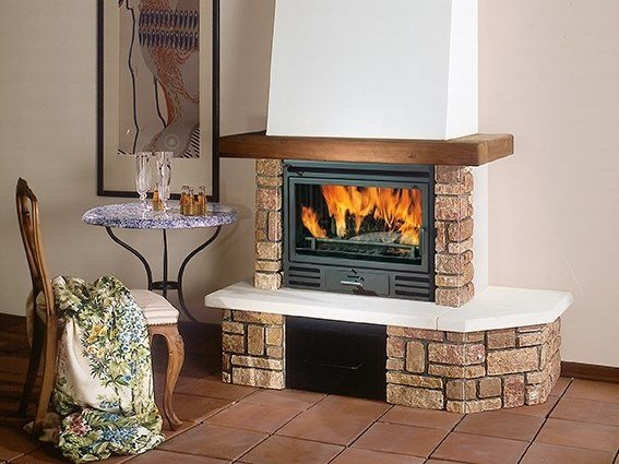 Wood-burning cast iron Fireplace insert RIGA 54 by EDILKAMIN