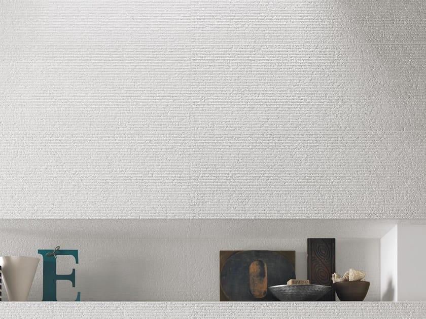 White-paste 3D Wall Cladding FORME BIANCHE RIGATO by Impronta Ceramiche