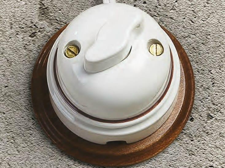Ceramic electrical socket RIGEL   Electrical socket by Aldo Bernardi