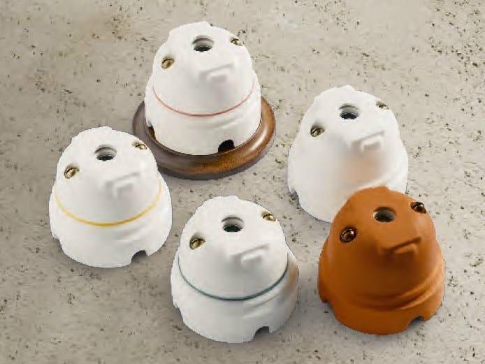 Single ceramic electrical outlet RIGEL | Coaxial socket by Aldo Bernardi