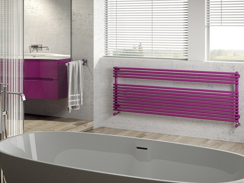 Horizontal steel towel warmer RIGO by IRSAP