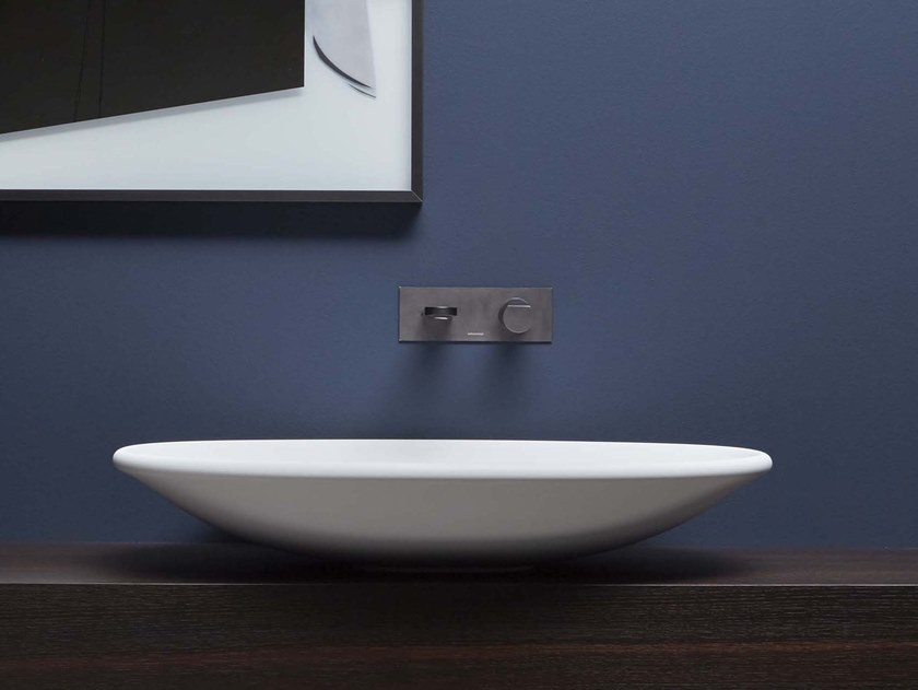 Countertop Flumood® washbasin RIM by Antonio Lupi Design