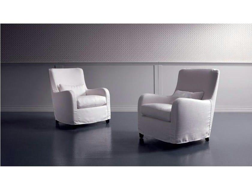 Fabric armchair with armrests RIMINI | Fabric armchair by Marac