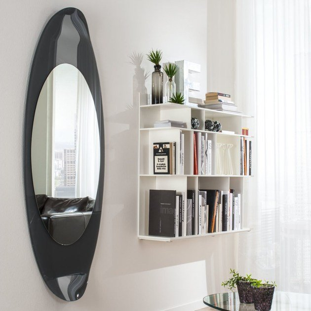 Wall-mounted framed mirror RIMINI by IDEAS Group