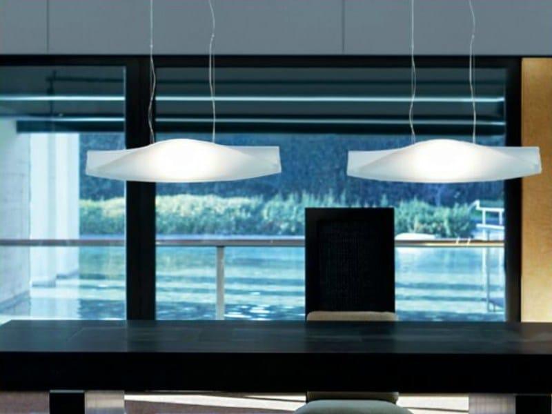 Glass pendant lamp RIMMEL   Pendant lamp by PANZERI
