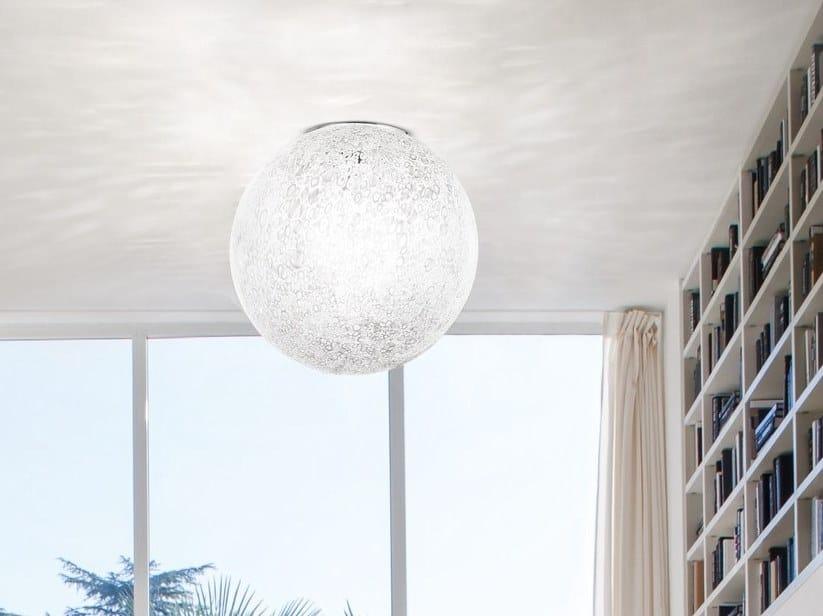 N Gl Ceiling Light Rina Pl By Vetreria Vistosi