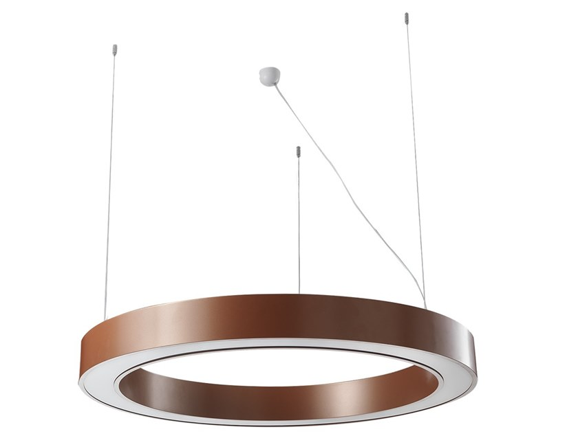 Ceiling mounted aluminium Linear lighting profile RING by Terzo Light