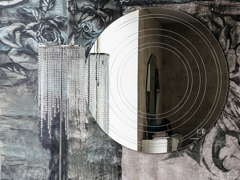 Wall-mounted round mirror RING by Cattelan Italia