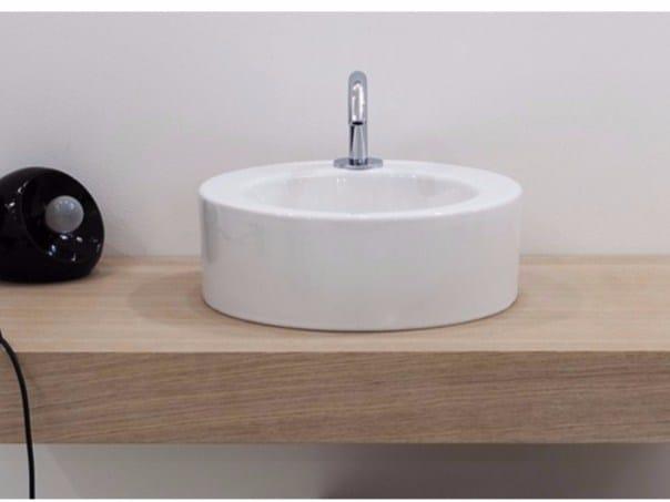 Countertop round ceramic washbasin RING   Ceramic washbasin by GSG Ceramic Design
