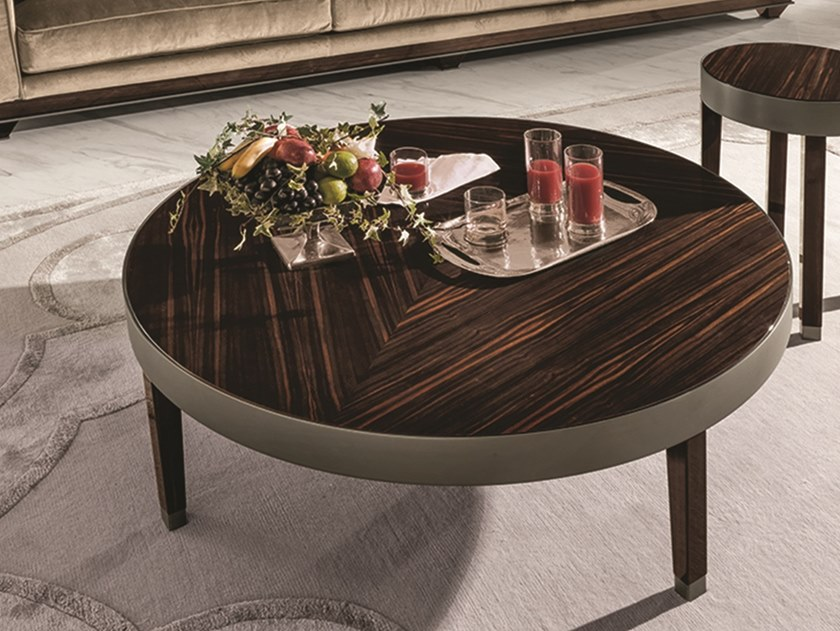 Round wooden coffee table RING | Coffee table by Longhi