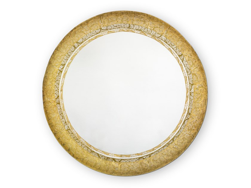 Round framed wall-mounted mirror RING FILIGREE | Mirror by Boca do Lobo