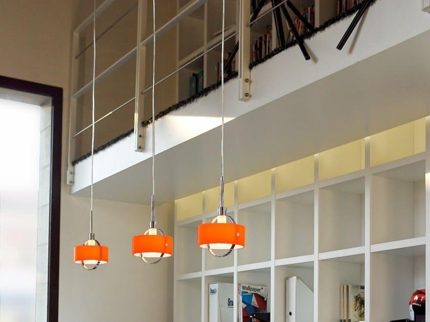 Direct light blown glass pendant lamp RING | Pendant lamp by PANZERI