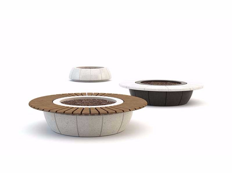 Round Bench with Integrated Planter RING by Bellitalia