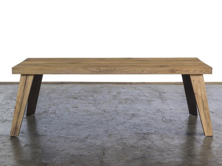 Rectangular reclaimed wood dining table RIO STORTO by A&B Rosa dei Legni