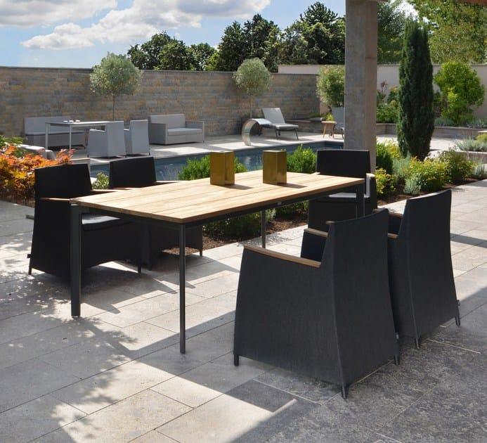 Rectangular Teak Garden Table RIO | Teak Table By FISCHER MÖBEL