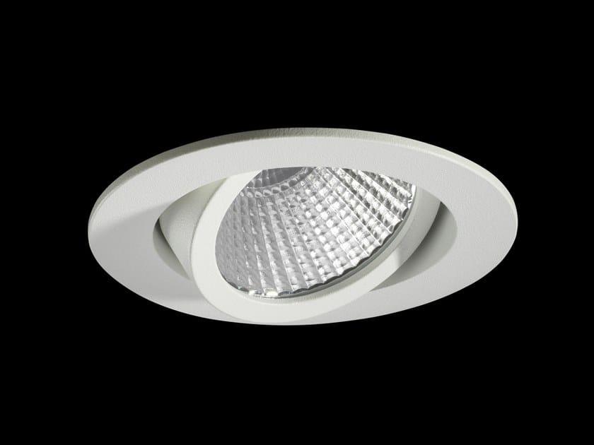 Faretto a LED orientabile in alluminio verniciato a polvere da incasso RIO by LUNOO