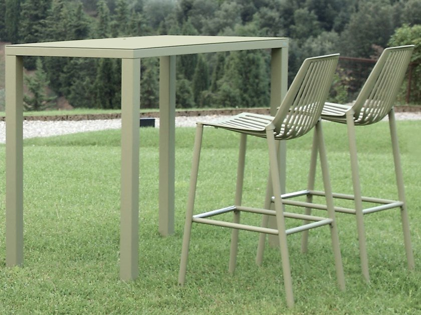 High garden stool with footrest RION | Stool by FAST