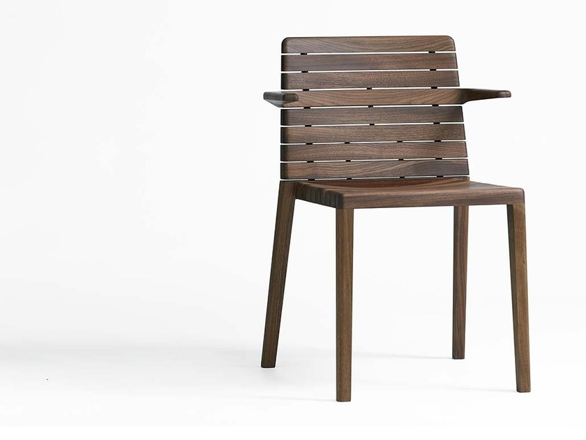 Wooden chair with armrests RIP | Chair with armrests by schneiderschram