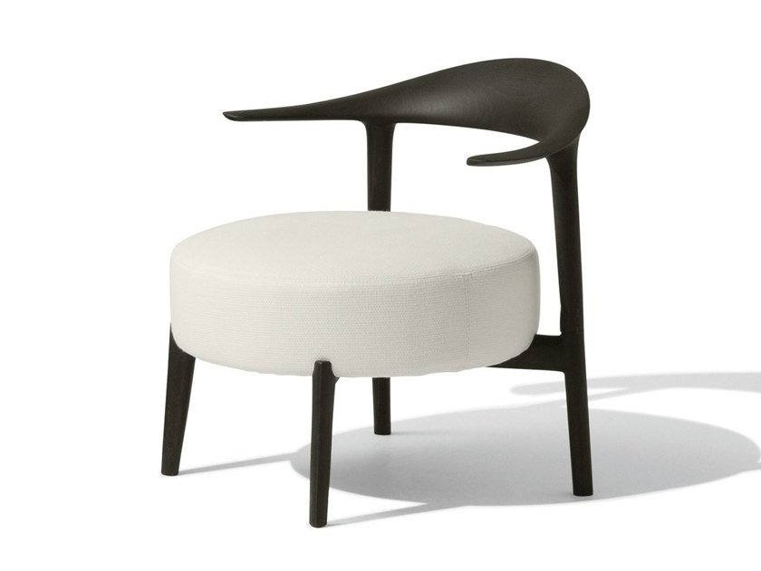 Upholstered easy chair with armrests RIPPLE by GIORGETTI