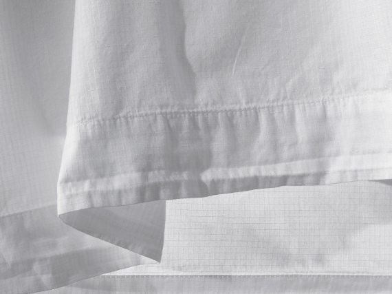 Fine cotton sheet with thin check fabric structure RIPS by Society Limonta