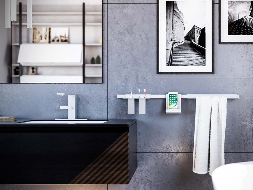 Metal towel rail RISE by Damiano Latini