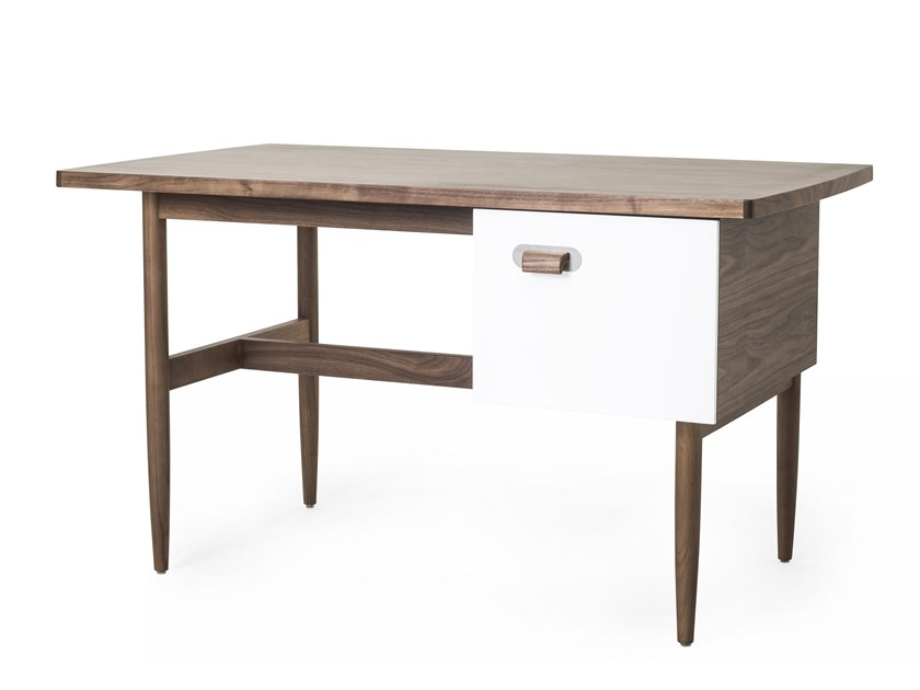 Rectangular wooden writing desk with drawers RISOM   Writing desk by STELLAR WORKS