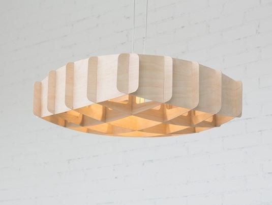 Plywood pendant lamp RISTIKKO 65 | Pendant lamp by SHOWROOM Finland