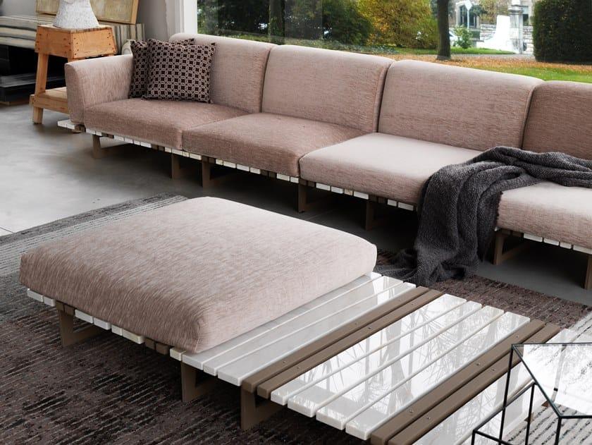 Sectional Calacatta marble sofa RITAGLI by FranchiUmbertoMarmi