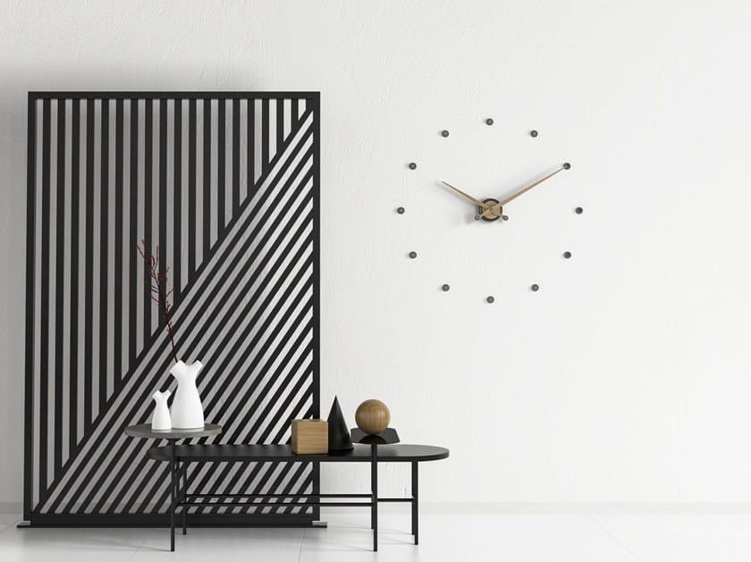 Wall-mounted metal clock RITMO by Materium