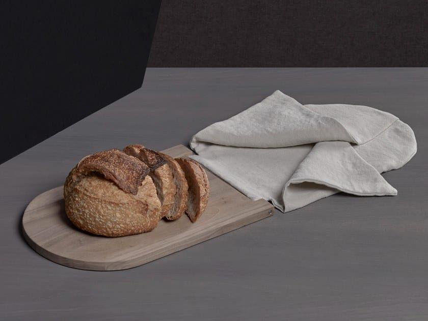 Tagliere in noce canaletto con sacca di lino RITO by Society Limonta