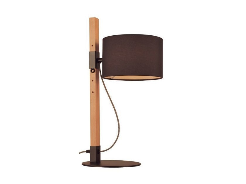 Direct light wooden table lamp with fixed arm RIU | Table lamp by Aromas del Campo