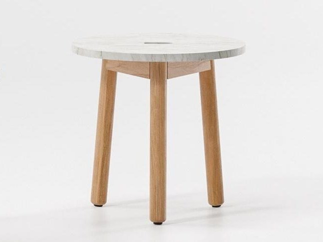 Low round marble coffee table RIVA | Round coffee table by KETTAL