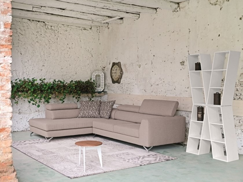 Corner fabric sofa RIVER | Corner sofa by Gobbo Salotti