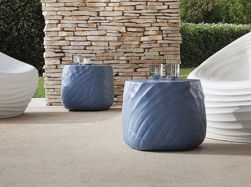 Polyurethane Pouf Coffee Table River Stone By Tonon