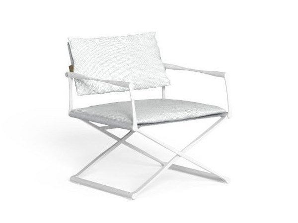 Folding easy chair with armrests RIVIERA | Easy chair by Talenti