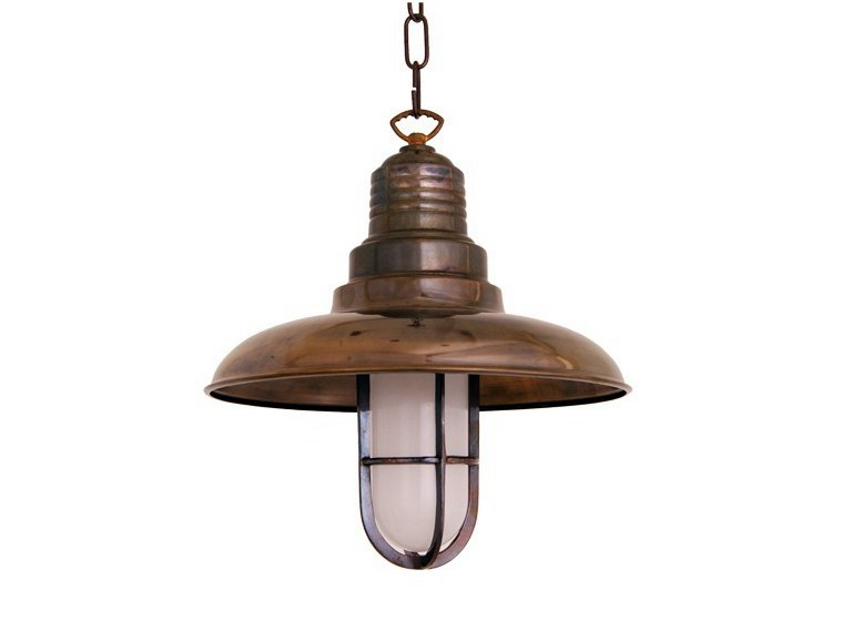 Handmade brass pendant lamp RIXTON VINTAGE PENDANT LIGHT by Mullan Lighting