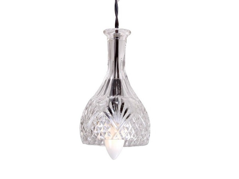 Handmade glass pendant lamp SENSUA GLASS DECANTER PENDANT by Mullan Lighting