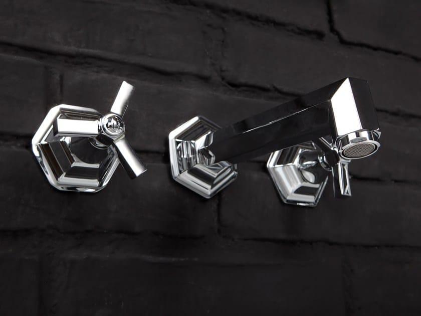 3 hole wall-mounted washbasin tap RL1017 | Washbasin tap by BLEU PROVENCE