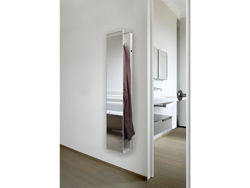 Vertical wall-mounted towel warmer ROBE DOUBLE by mg12