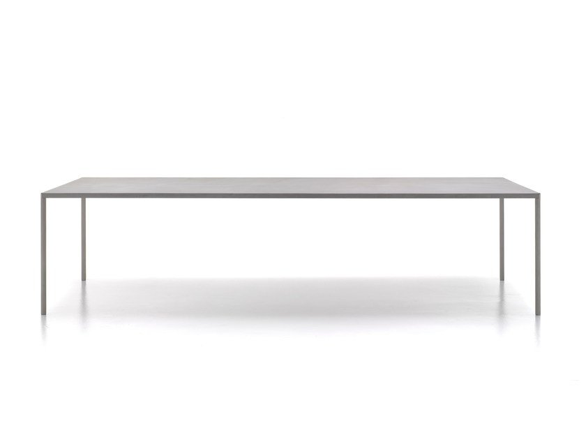 Rectangular cement table ROBIN by MDF Italia